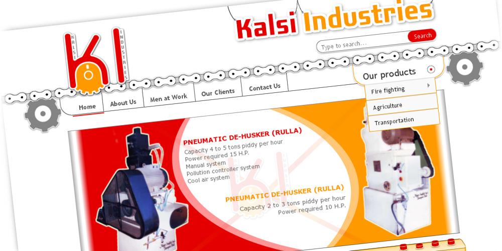 KalsiIndustriesFire.com - A creative home page