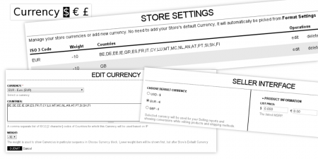 Multi currency feature for Multi seller e-commerce with admin & seller reports based on configured currencies.